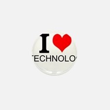 I Love Technology Mini Button (10 pack)
