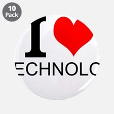 "I Love Technology 3.5"" Button (10 pack)"