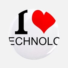 "I Love Technology 3.5"" Button"