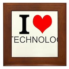 I Love Technology Framed Tile