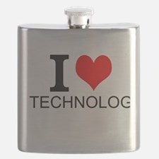 I Love Technology Flask