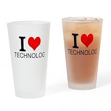 I Love Technology Drinking Glass