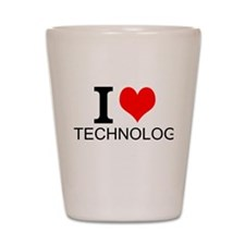 I Love Technology Shot Glass