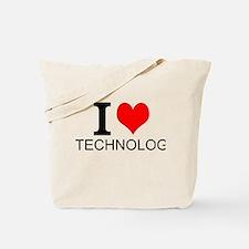 I Love Technology Tote Bag
