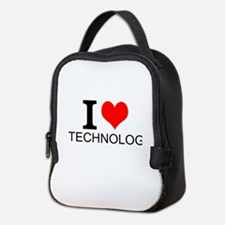 I Love Technology Neoprene Lunch Bag