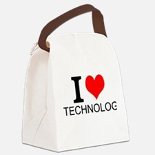 I Love Technology Canvas Lunch Bag