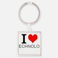I Love Technology Keychains