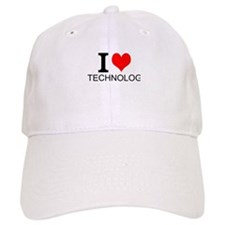 I Love Technology Baseball Baseball Cap