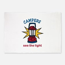 Campers See the Light 5'x7'Area Rug