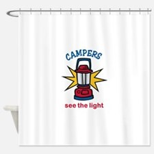Campers See the Light Shower Curtain