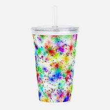 Rainbow starbursts Acrylic Double-wall Tumbler