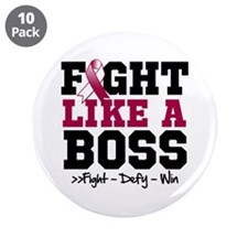 "Head Neck Cancer Fight 3.5"" Button (10 pack)"
