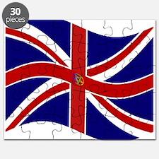 Waving Union Jack Pentagram Flag Puzzle