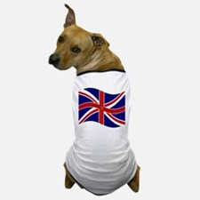 Waving Union Jack Pentagram Flag Dog T-Shirt