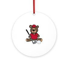 Golf Bear Ornament (Round)