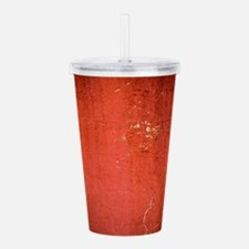 red tatter 2 Acrylic Double-wall Tumbler
