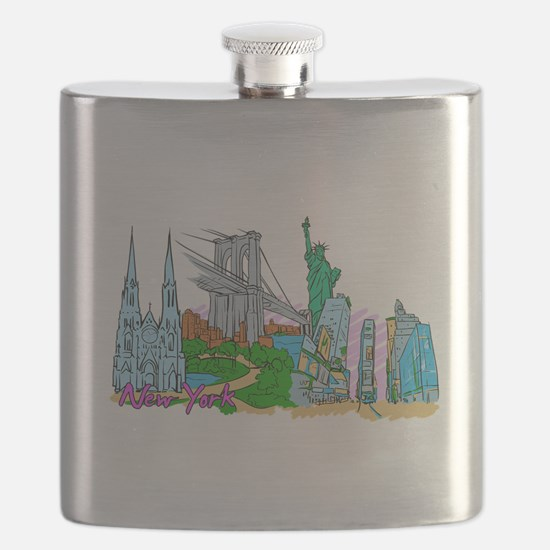 New York City - United States of America Flask