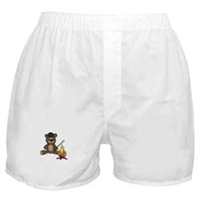 Campfire Teddy Bear Boxer Shorts