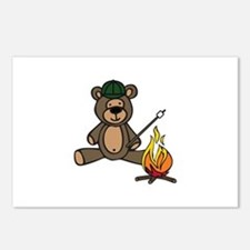 Campfire Teddy Bear Postcards (Package of 8)