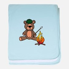 Campfire Teddy Bear baby blanket