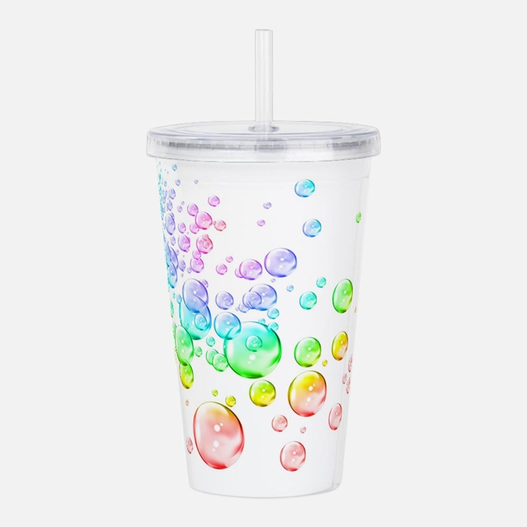 Colored bubbles Acrylic Double-wall Tumbler