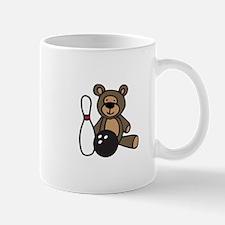 Bowling Teddy Bear Mugs