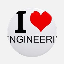 I Love Engineering Ornament (Round)