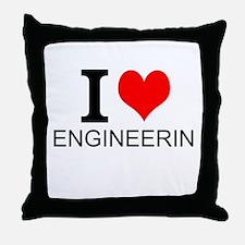 I Love Engineering Throw Pillow