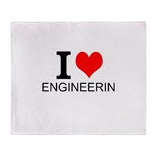 I Love Engineering Throw Blanket