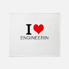 I Love Engineering Throw Blanket