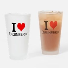 I Love Engineering Drinking Glass