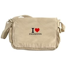 I Love Engineering Messenger Bag