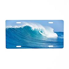 Blue Wave Aluminum License Plate