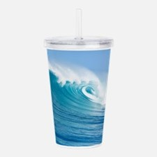 Blue Wave Acrylic Double-wall Tumbler