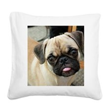 Pugsley The Pug Square Canvas Pillow