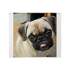 Pugsley The Pug Throw Blanket