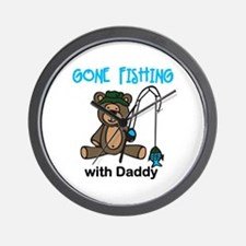 Fishing with Daddy Wall Clock