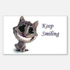 Keep Smiling Rectangle Decal