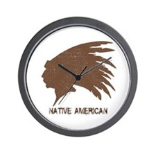 Native American 2 Wall Clock