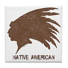 Native American 2 Tile Coaster