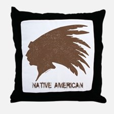Native American 2 Throw Pillow