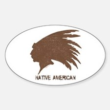 Native American 2 Oval Decal