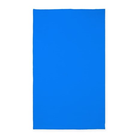 Solid bright blue 3 39 x5 39 area rug by bedtimedesigns for Bright blue area rug