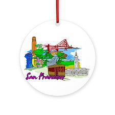 San Francisco - California - USA Ornament (Round)