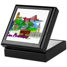 San Francisco - California - USA Keepsake Box