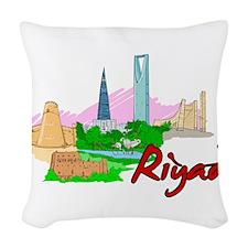 Riyadh - Saudi Arabia Woven Throw Pillow