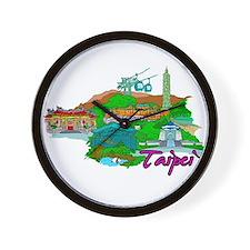 Taipei - Taiwan Wall Clock