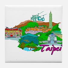 Taipei - Taiwan Tile Coaster