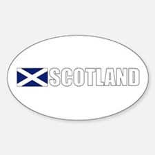 Scotland Flag (Dark) Oval Decal