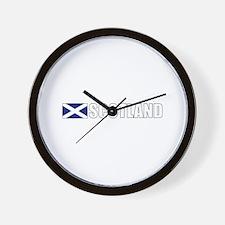 Scotland Flag (Dark) Wall Clock